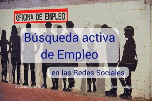 La búsqueda activa de empleo en las redes sociales