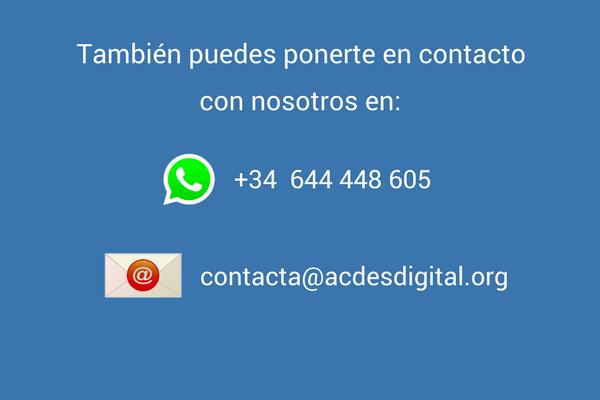 También puedes ponerte en contacto con nosotros en