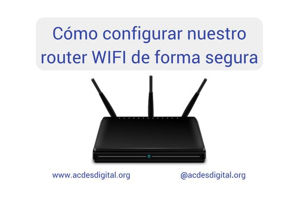 configurar nuestro router WIFI