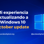 Actualización Windows 10 october update